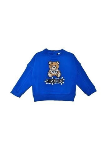 MOSCHINO BABY KID TEEN blue MOSCHINO BABY SWEATSHIRT 58096KADE76F5BGS_1