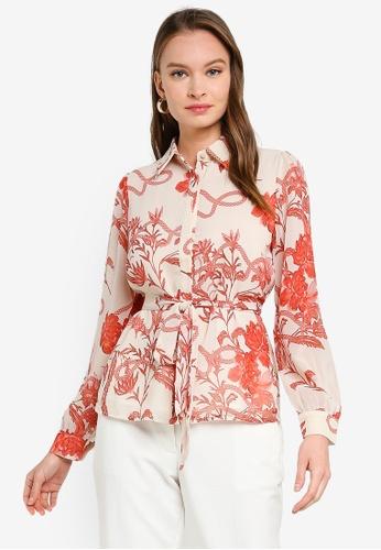 FORCAST white Kairi Floral Button Up Blouse F0BADAA6C92AA2GS_1