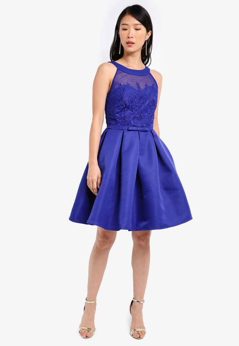 Prom Applique Cobalt Mistress Dress Little PdwdUqfx