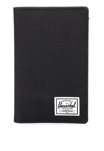 Herschel black Search Passport Holder 9B5B4ACEB58402GS_1