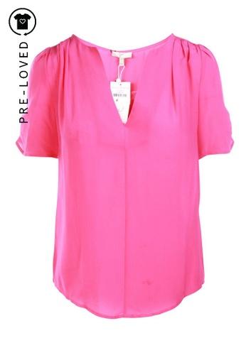 Joie pink Pre-Loved joie Silk Top 1ADA8AA8EED2E0GS_1