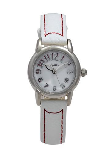 Alba white ALBA Jam Tangan Wanita - White Silver - Stainless Steel - AXT275 F3FDAAC5DC124EGS_1