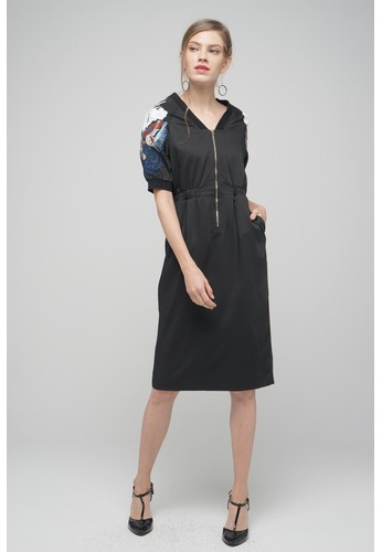 Megane black Red Romance Hedvige Embroided Sequin Zipper Dress 87CE3AABA99C11GS_1