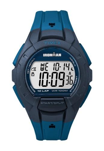 TIMEX blue Timex IRONMAN® Essential 10-Lap Full-Size - TW5M11400 TI205AC0RETUMY_1