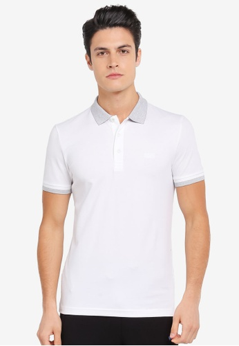 BOSS white Paule Polo Shirt - Boss Athleisure BO517AA0SRAZMY_1