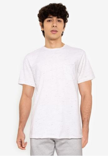 !Solid white Melange Pocket T-Shirt 2A883AA728CB44GS_1