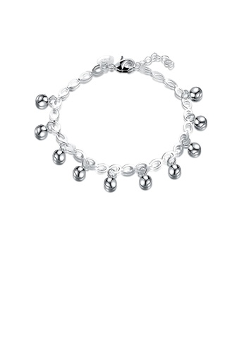 Glamorousky silver Simple and Fashion Bell Bracelet 06AB3ACF0BC472GS_1