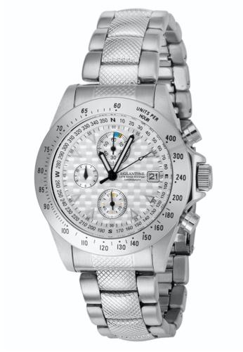 EGLANTINE silver EGLANTINE® Sportsmaster Steel Chrono Quartz Watch on Steel Bracelet 6D160ACB73F61CGS_1