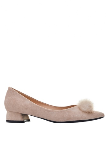 Twenty Eight Shoes Fur Bow Low Heel 333-31 EC2F8SH3696B5CGS_1
