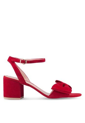 Dune London red Bow Detail Block Heels EBB7ESH5517661GS_1
