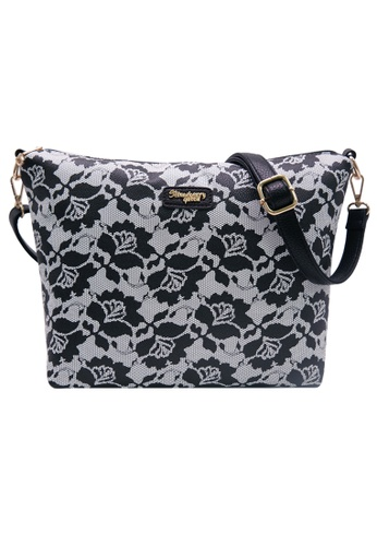 STRAWBERRY QUEEN black Strawberry Queen Flamingo Sling Bag (Floral AX, Black) 029F5ACF3BB72EGS_1