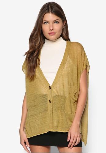 亞麻開襟外套, 服飾, zalora 手錶毛衣& 針織外套
