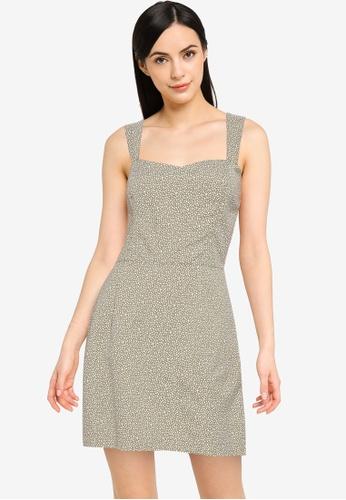 Abercrombie & Fitch green Clean Cotton Slim Waist Dress 52CAFAA1673261GS_1