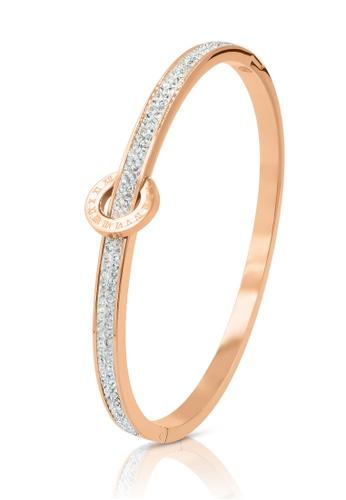 SO SEOUL gold Olivia Orbit Double Row Austrian Crystal Rose Gold Hinged Bangle AABCAAC5887132GS_1