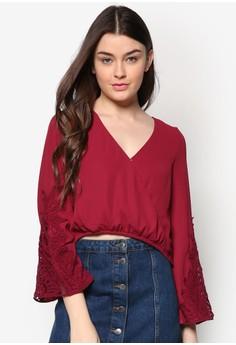 Crochet Sleeve Wrap Top