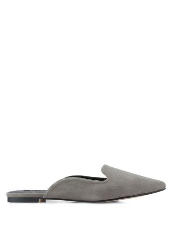 ZALORA grey Pointed Mules 5DAA7SH720B854GS_1