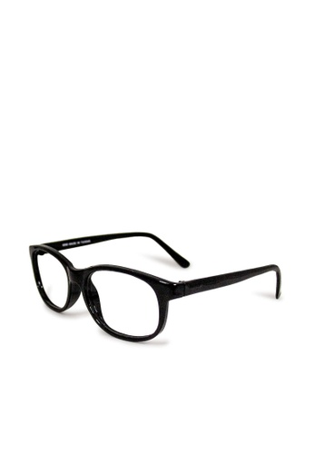 ASLLY black Midnight talk show│Anti-blue light glasses with black thick rectangle frame 0780AGLD8283E1GS_1