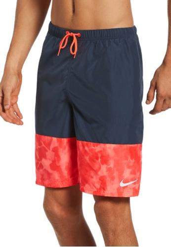 "Nike blue Nike Swim Men's Cloud Dye Packable 9"""" Volley Short B629DUSEF64273GS_1"