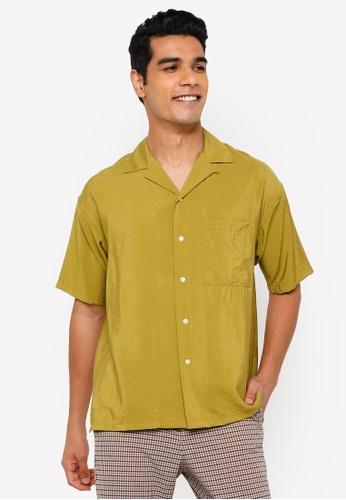 RAGEBLUE green Casual Plain Shirt 54F14AAFC91721GS_1