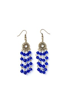 Deep Blue Gypsy Drop Earrings