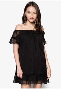 Off Shoulder Flare Dress