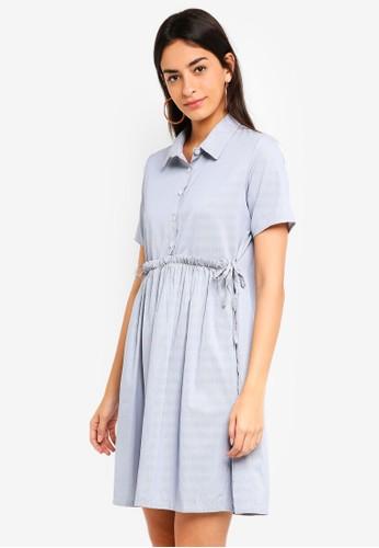 Shopsfashion blue Drawstring Midi Dress 3CFF4AA42CE322GS_1
