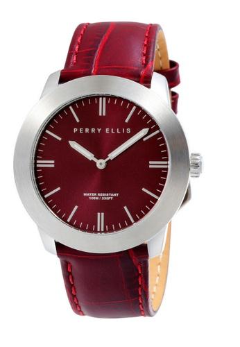 PERRY ELLIS red Perry Ellis Slim Line Unisex 42mm Quartz Watch 07004-01 40D9AACDD85DB1GS_1