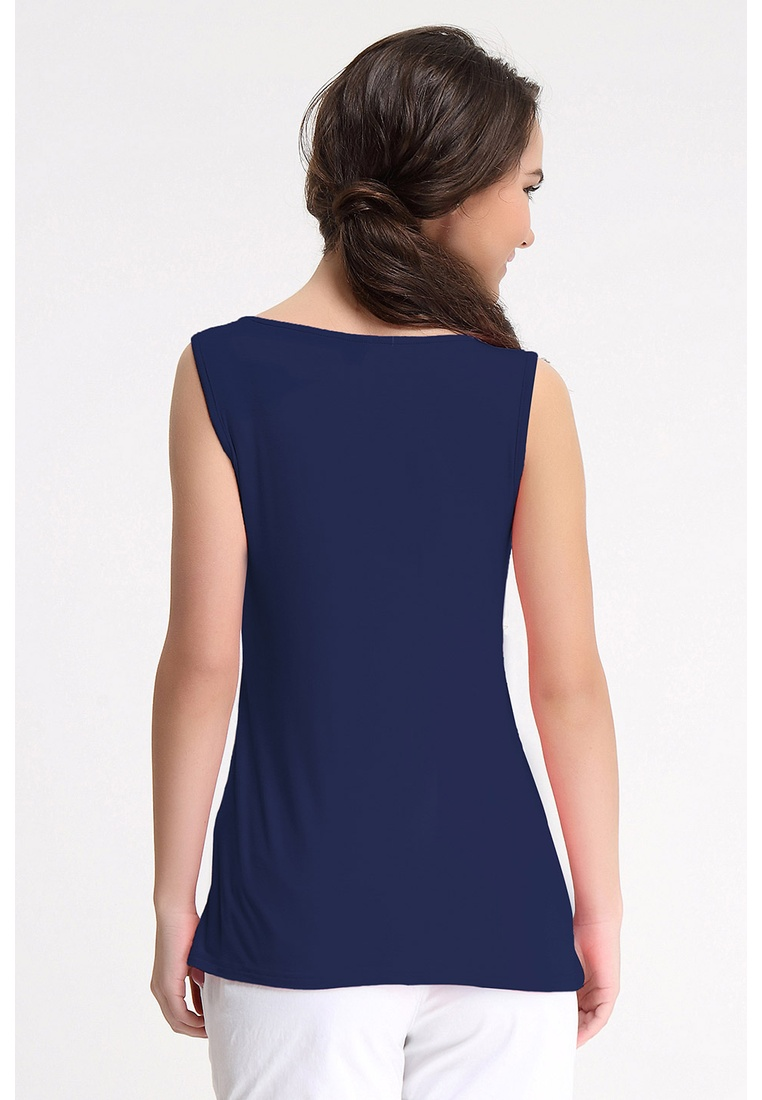 Spring Maternity by LTN5405 Bove Empire Navy Sleeveless Abbey Knitted Top vq5nTOnEw