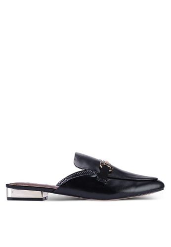 River Island black Ramone - Snaffle Backless Loafers 89841SH8CAE387GS_1