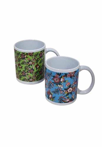 Slique green and blue Premium Ceramic 2 Pcs Mug Set 300 ml 3F6BAHL269D6CAGS_1