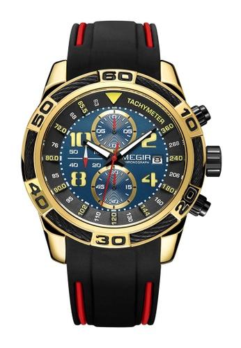 Megir gold Japan Design Quartz Movement  Steel Megir Watch C52C5AC54CD43BGS_1