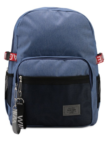 Bagstationz blue Stylish Duo-Tone Laptop Backpack 476F8ACB9DDBCBGS_1