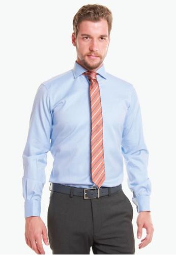 c6d6a60eb T.M. LEWIN blue T.M.Lewin Blue Twill Cutaway Collar Slim Fit Shirt  7997BAA819E4A6GS_1