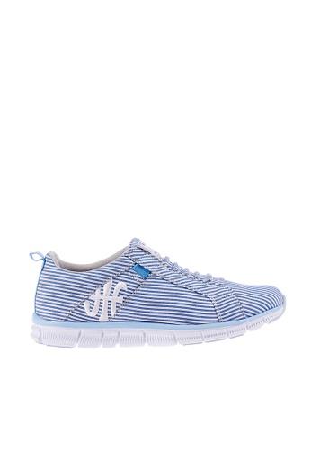 Royal Elastics 白色 and 藍色 Zephyr 輕量休閒鞋 RO796SH099J1TW_1