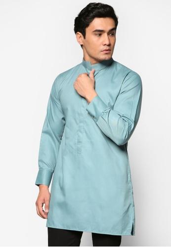 Murzaman blue Kurta Amin MU501AA57DJMMY_1