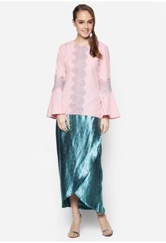 Cattleya Modern Lace Kurung
