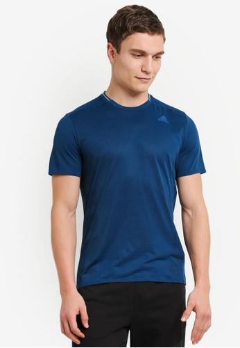 adidas 藍色 adidas supernova 短袖 T卹 AD372AA0S91KMY_1