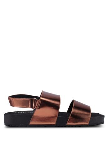 Rubi brown Olivia Double Strap Slingback Sandals 37935SHA961CF4GS_1