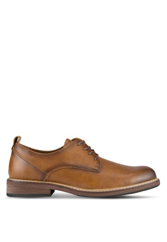 Call It Spring brown Ferade Derby Shoes CA512SH0SFDHMY_1
