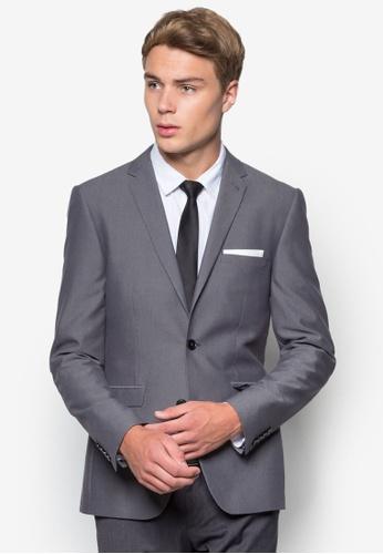 Buy Burton Menswear London Slim Fit Mid Grey Suit Jacket | ZALORA HK