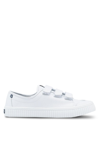 Sperry white Crest Loop Leather Sneakers 05C70SH13174DAGS_1