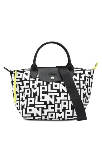 LONGCHAMP black and white Le Pliage LGP Top Handle Bag S (nt) 0C7BCAC744AC2BGS_1