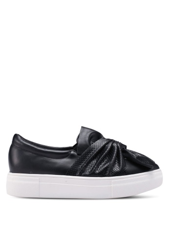 Something Borrowed black Deconstructed Knot Slip Ons C5AA1SH0B22AD4GS_1