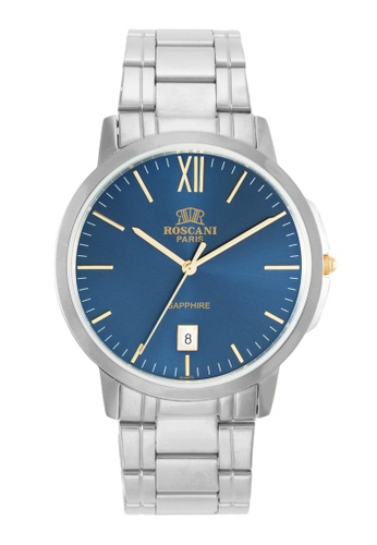 Roscani silver Roscani Tom 427 (Sapphire Crystal + Sunray Dial) Silver Blue Bracelet Men Watch 9A1D2AC90B8883GS_1