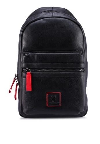 Playboy black Chest Bag E71F3ACDE7D4B4GS_1