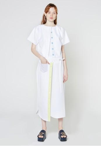 襯衫式裹飾短裙esprit 衣服, 服飾, 裙子