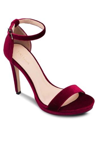 一字帶繞踝厚底高跟鞋、 女鞋、 燦色奪目ZALORA一字帶繞踝厚底高跟鞋最新折價