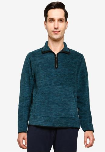 Banana Republic blue Arctic Fleece Half Zip Sweatshirt 97514AADA1E823GS_1