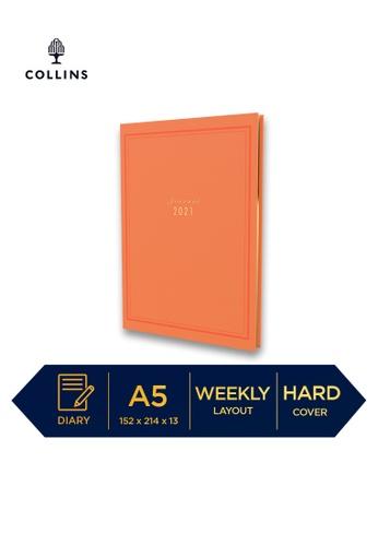 Collins orange Collins Kenrich ─ 2021 Calendar Year Diary ─ Orange ─ A5 Week to View 1B725HL64BEC89GS_1