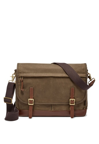 Fossil brown Fossil Defender Brown Messenger Bag MBG9078200 372E1ACC34AA4CGS_1
